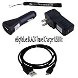 USB Car Charger, USB Wall Home / Travel Charger, Earphones, and USB Data Sync Cable For Nook Color Wireless Reading Device, Wi-Fi, 6-Inch Display Latest Generation + includes a Determination Hand Strap