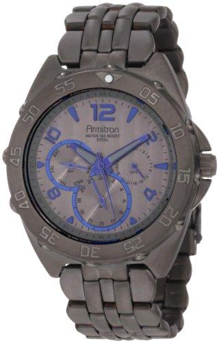 armitron-herren-20-4664gbsg-black-ionic-finish-blue-dial-accent-multi-function-bracelet-armbanduhr