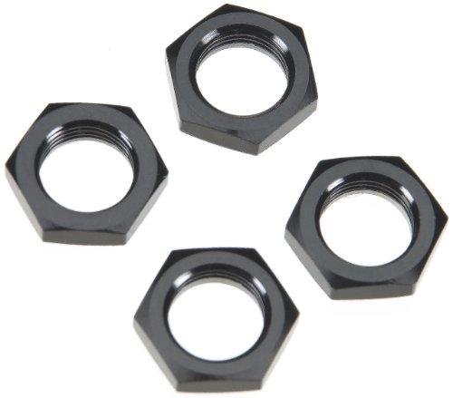 Team Associated 89406 Nyloc Wheel Nuts, Black