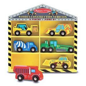 Melissa & Doug Deluxe Wooden Construction Vehicles