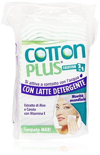 Cotton Plus - Faldine Struccanti con Latte Detergente 2 in 1, Formato Maxi - 50 pezzi
