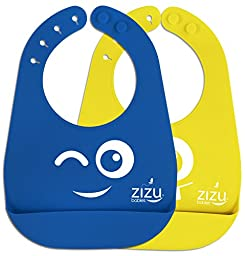 Best Baby Bib-Waterproof Silicone Bibs Easily Wipe Clean! Free Baby Temperature Spoon- Spend Less Time Cleaning after Meals - BPA Free &FDA Approved Bibs