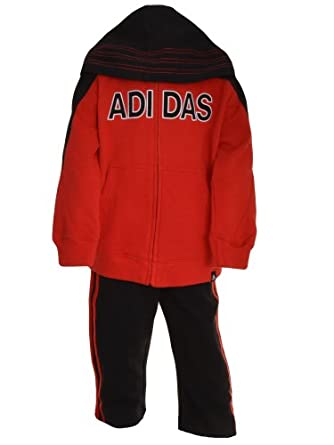 Adidas Boys 2-Piece Warm Up Hooded Tracksuit by adidas