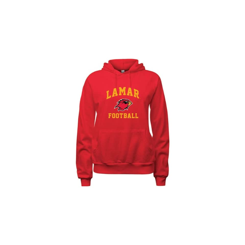 Lamar Cardinals Red Womens Football Arch Hooded