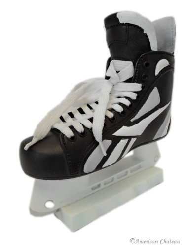 "7"" Kids Room Decor Black Ice Hockey Skates Money Piggy Bank"