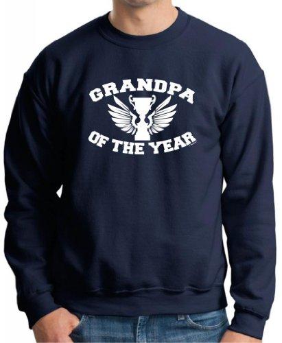 Grandpa Of The Year Premium Crewneck Sweatshirt Medium Navy