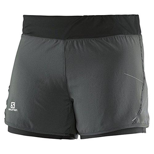 Salomon Park 2In1 W - Pantaloncini da donna, colore Grigio, taglia L