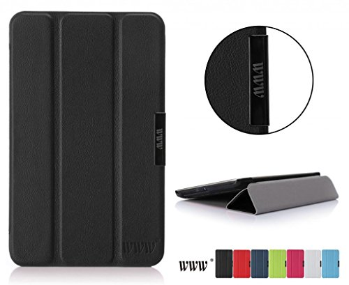 Www Ultra Slim Magnetic Smart Cover Case For Asus Memo Pad 7 Me 176Cx Black (With Auto Wake/Sleep Feature)