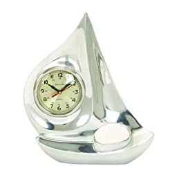 Deco 79 Aluminium Boat Clock, 13 by 10-Inch by UMA Enterprises, Inc.