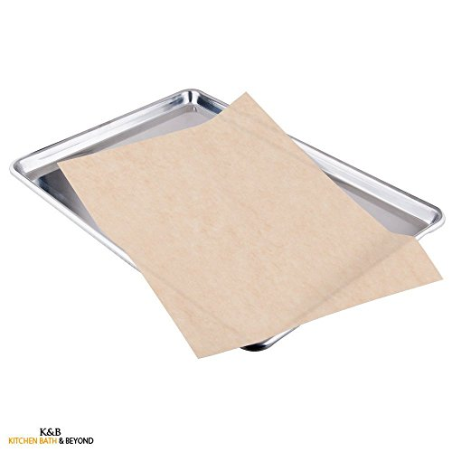 Kitchen & Beyond Natural Parchment Paper Pan Liner, Full Sheet 24-inch By 16-inch, Unbleached, 50-pack (Parchment Paper Chlorine Free compare prices)