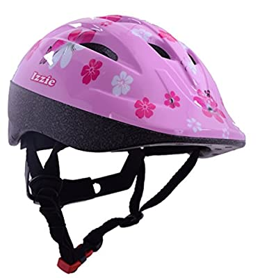 Ammaco Izzie Girls Childrens Protective Safety Bike Bicyle Helmet 48-54cm Pink Flowers from AMMACO