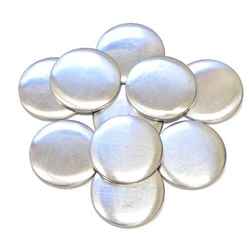 48mm10個  くるみボタン(つつみボタン)  カンバッチ&マカロンケース・妖怪ウォッチメダルケースに キルト綿のおまけ付き