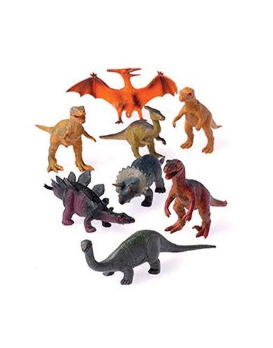 12 - Assorted Medium Sized Plastic Toy Dinosaurs Play set figures.