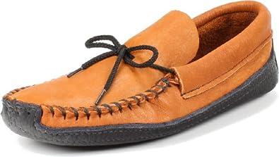 "Itasca Moccasin Men's Cota ""Brindle, made of Buffalo & Elk"" Moccasin Size: 6"