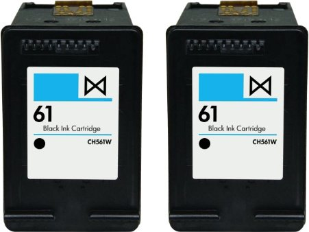 Houseoftoners 2Pk Hp 61 (Ch561Wn) Black Replacement Ink Cartridges (Remanufactured In The Usa)