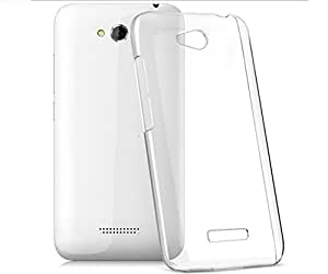 Micomy Ultra Thin Transparent Silicone Soft Jelly Case Back Cover for Micromax Canvas Play Q355