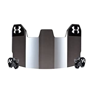 Under Armour Football Visor Gray with Mirror by Under Armour