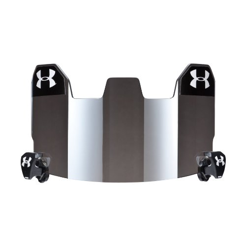 Football Visor Gray with Mirror Eyewear by Under Armour One Size Fits All Gray With Mirror