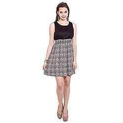 TUNTUK Women's Tora Dress Black Viscose Dress