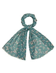 Indigo Collection Lightweight Ditsy Butterfly Scarf