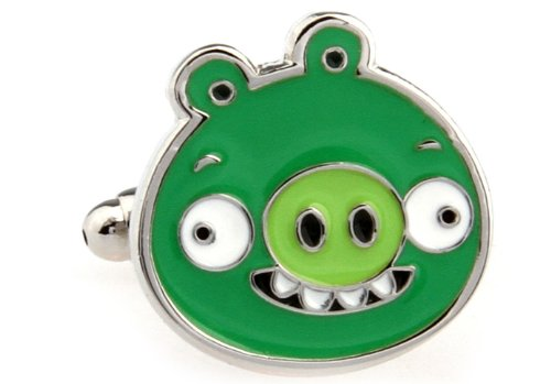 Pig Angry Birds Game Cufflinks Cuff Links