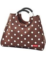 Chic to go 80145 Einkaufstasche, braun mit weißen Punkten