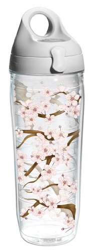 Tervis Tumbler Cherry Blossom Wrap Water Bottle With Lid