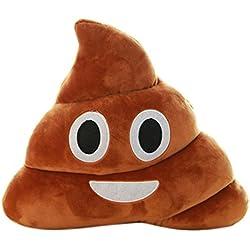 Sankuwen 1pc Funny Gift, Emoji Poo Shape Pillow Car Home Office Accessory (Mini Cute)
