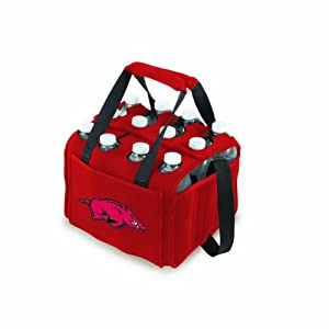 Picnic%20Time NCAA Arkansas Razorbacks Beverage Buddy Insulated 12-Pack Drink Tote