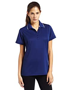 Antigua Women's Impact Desert Dry Short Sleeve Polo, Dk Royal/Whtie, Small
