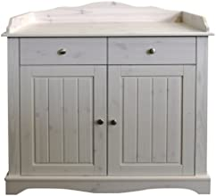 Steens Furniture 806 Steens Lotta Wickelkommode, 4 Schubladen, Kiefer, 107 x 99.6 x 70.5 cm, white wash