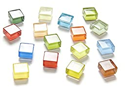 20-Pack Refrigerator Magnets, Fridge Magnets, Glass Magnets, Whiteboard Magnets, Office Magnets for Magnetic Whiteboard, Calendar Magnets, Map Magnets, Small Cute Colorful Fun Decoration