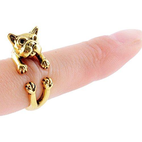 Mr Rabbit Fashion Jewelry Pug Shapped Adjustable Punk Biker Ring