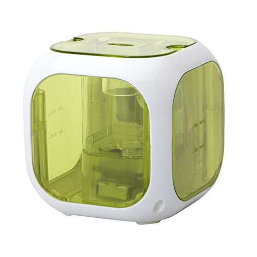 HealthSmart Cube Fellow Ultrasonic Cool Mist Humidifier and Aromatherapy Diffuser, Filter Free, Green