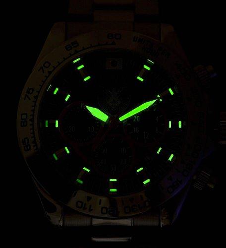 自衛隊エンブレム採用 海上自衛隊腕時計 クロノモデル ホワイト