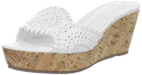Jack Rogers Women's Barcelona Capri Platform Sandal,White,7.5 M US