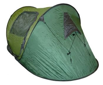 Highlander 2 Person Pop Up Quick Pitch Tent Red, festival.