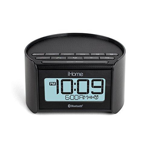 ihome ibt230 bluetooth bedside dual alarm clock radio with. Black Bedroom Furniture Sets. Home Design Ideas