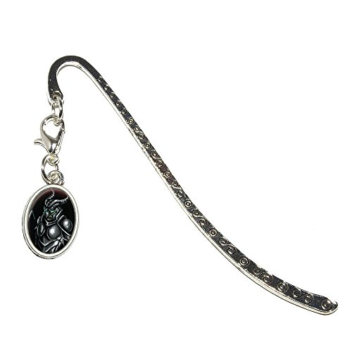 Knight Armor - Medieval Warrior Dragon Slayer Fantasy Metal Bookmark Page Marker with Oval Charm