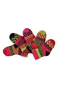 Solmate Ladybug Baby Mismatched USA made Socks