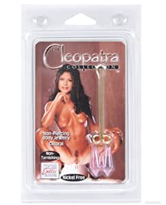 California Exotic Novelties Cleopatra Clit Clip - Crystal Purple Diamonds