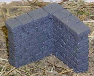 Stone Wall Corner 4ea 28mm Miniature Terrain