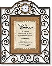 A Loving Grandmother Table Clock Framed Table Clock General Verses Paper