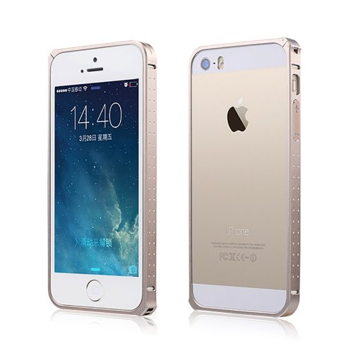 Moon Monkey Ultra-Thin Luxury Aluminium Alloy Metal Bumper Hard Case For Iphone 5 5S (Mm344) (Champagne Gold)