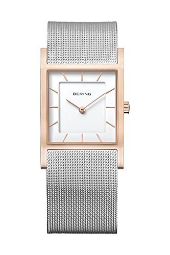 BERING Time Women's Classic Collection Watch with Mesh Band and super hardened mineral glass. Designed in Denmark. 10426-066 by Bering