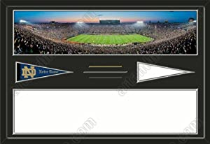 Notre Dame Fighting Irish Notre Dame Stadium & Your Choice Of Stadium Panoramic... by Art and More, Davenport, IA