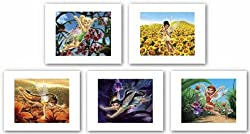 "Disney Fairies Set by Walt Disney 8""x10"" Art Print Poster Disney"