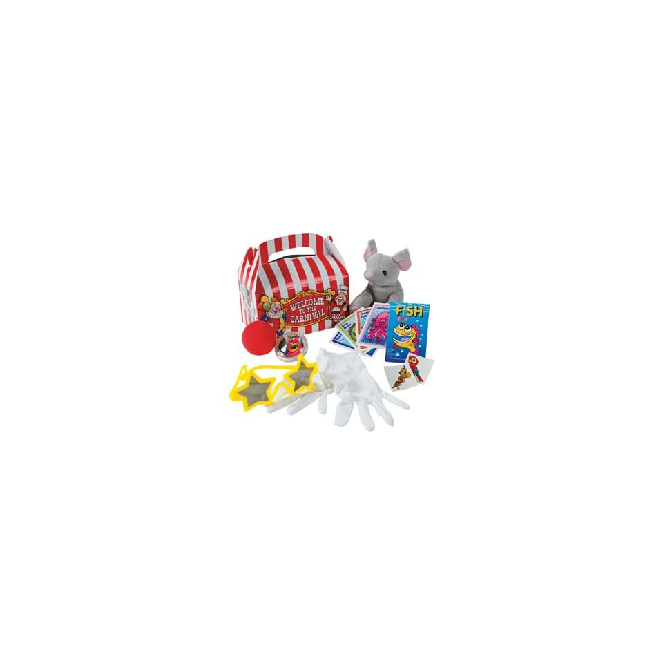 Under The Big Top Filled Treat Boxes (8 pcs)   Party Favor