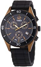 Timex Originals Quartz Watch with Black Dial Chronograph Display and Black Silicone Strap T2N829PF