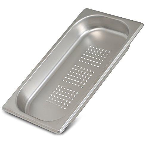 Greyfish GN-Behälter :: gelocht :: für Gaggenau / Miele / Siemens Dampfgarer (Edelstahl / Spülmaschine geeignet, Gastronorm 1/3, B 32,5 x T 17,6 x H 4,0 cm)